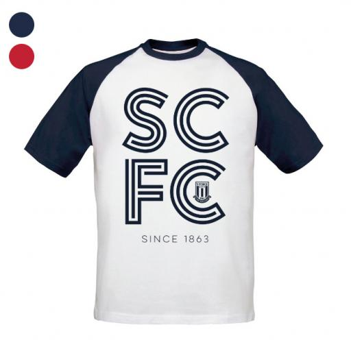 Stoke City FC Stripe Baseball T-Shirt