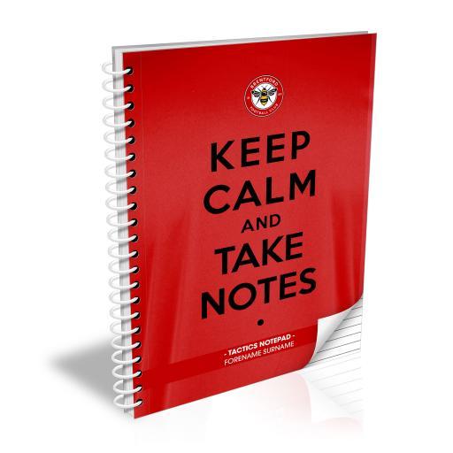 Brentford FC Keep Calm Notebook