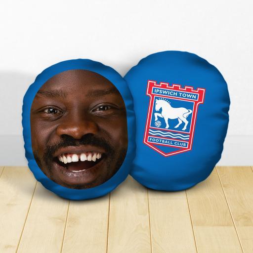 Personalised Ipswich Town FC Crest Mush Cush