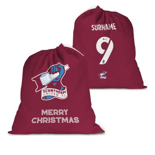 Scunthorpe United FC Back of Shirt Santa Sack