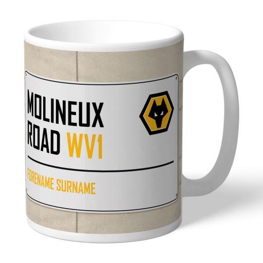Wolves Street Sign Mug