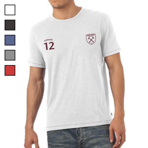 West Ham United FC Mens Sports T-Shirt