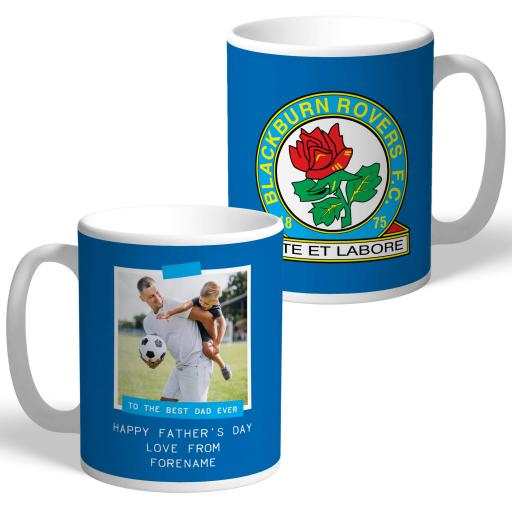 Blackburn Rovers FC Best Dad Ever Photo Upload Mug