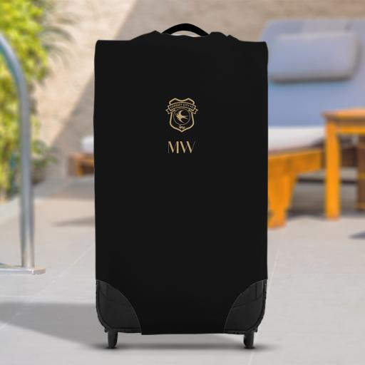 Cardiff City FC Initials Caseskin Suitcase Cover (Small)
