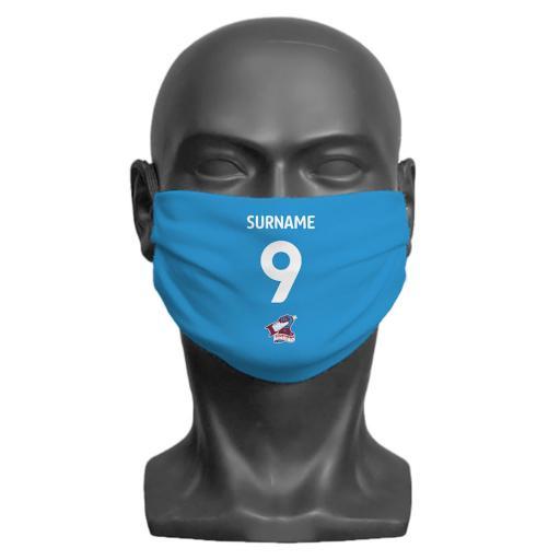 Scunthorpe United FC Back of Shirt Adult Face Mask (Large)