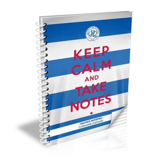 Queens Park Rangers FC Keep Calm Notebook