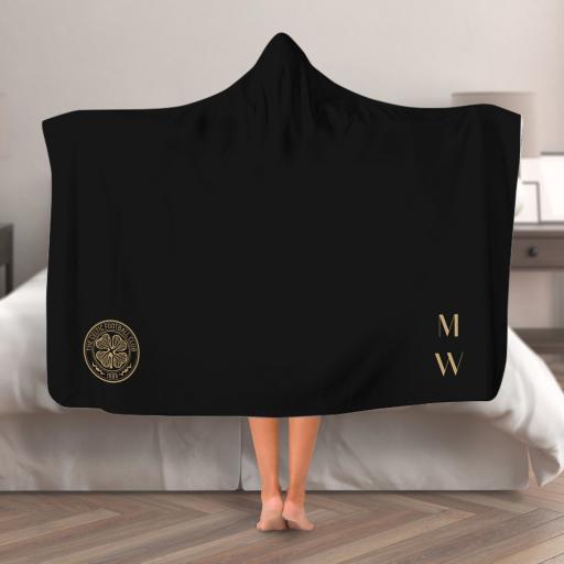 Celtic FC Initials Hooded Blanket (Adult)