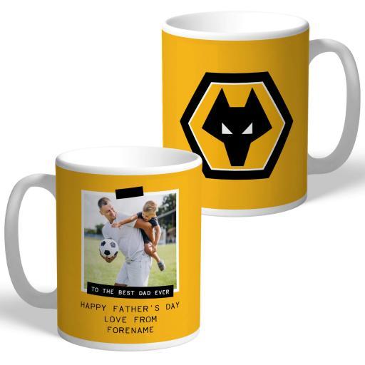 Wolves Best Dad Ever Photo Upload Mug