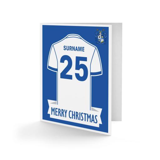 Bury FC Shirt Christmas Card