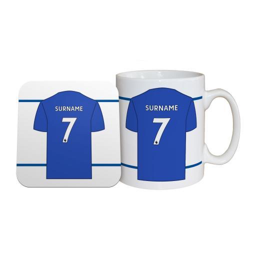 Leicester City FC Shirt Mug & Coaster Set