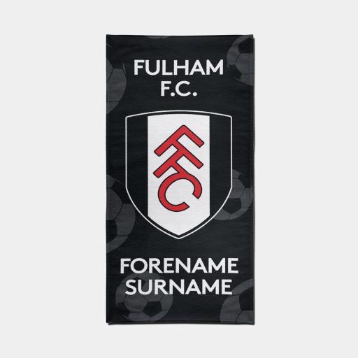 Fulham FC Crest Design Towel - 70cm x 140cm