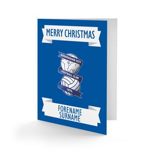 Birmingham City FC Crest Christmas Card