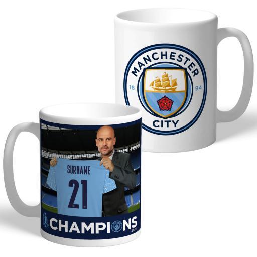 Manchester City FC Premier League Champions 2021 Manager Mug