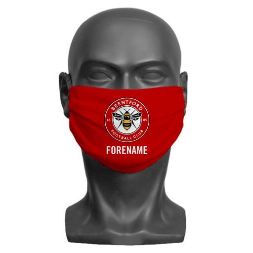Brentford FC Crest Adult Face Mask (Large)