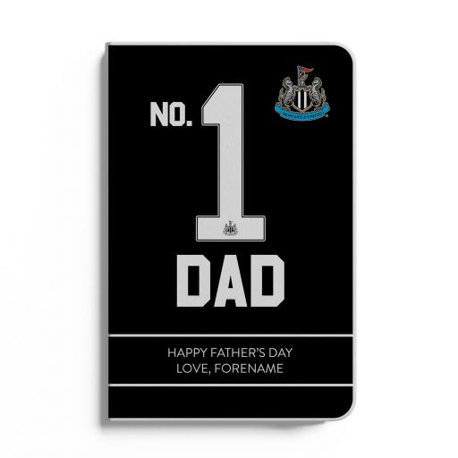 Newcastle United FC No.1 Dad A5 White Lined Notebook