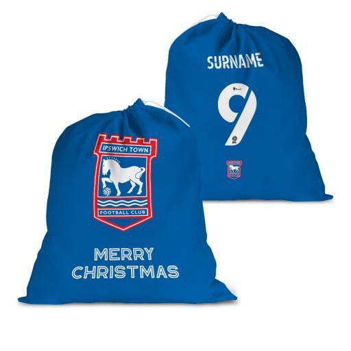 Ipswich Town FC Back of Shirt Santa Sack