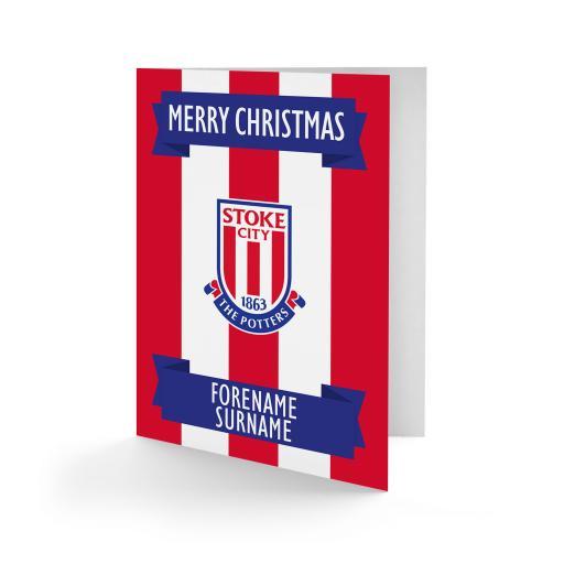 Stoke City FC Crest Christmas Card