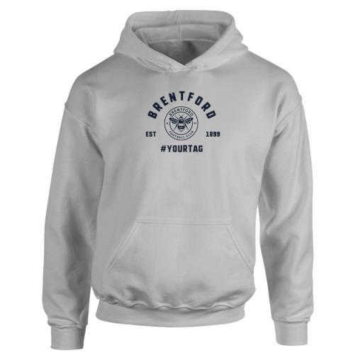 Brentford FC Vintage Hashtag Hoodie