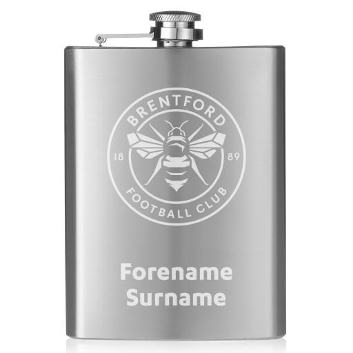 Brentford FC Crest Hip Flask
