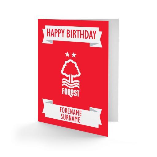 Nottingham Forest FC Crest Birthday Card