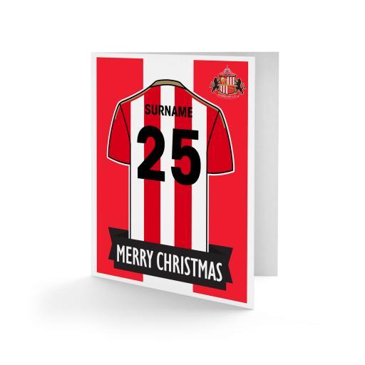 Sunderland AFC Shirt Christmas Card