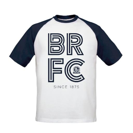 Blackburn Rovers FC Stripe Baseball T-Shirt