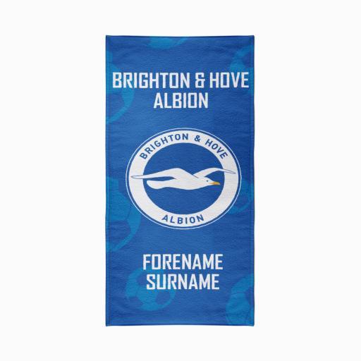 Brighton & Hove Albion FC Crest Design Towel - 70cm x 140cm