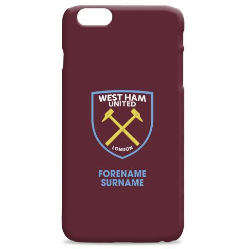 West Ham United FC Bold Crest Hard Back Phone Case