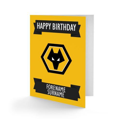 Wolves Crest Birthday Card
