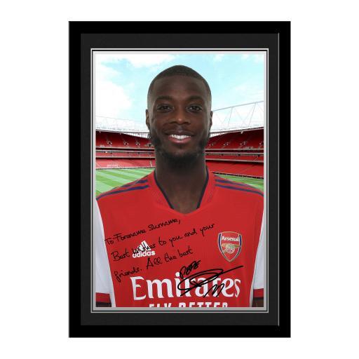 Arsenal FC Pepe Autograph Photo Framed
