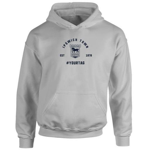 Ipswich Town FC Vintage Hashtag Hoodie