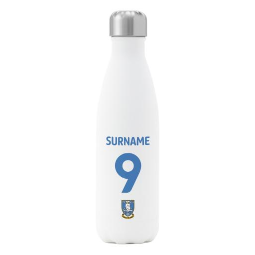 Sheffield Wednesday FC Back of Shirt Insulated Water Bottle - White