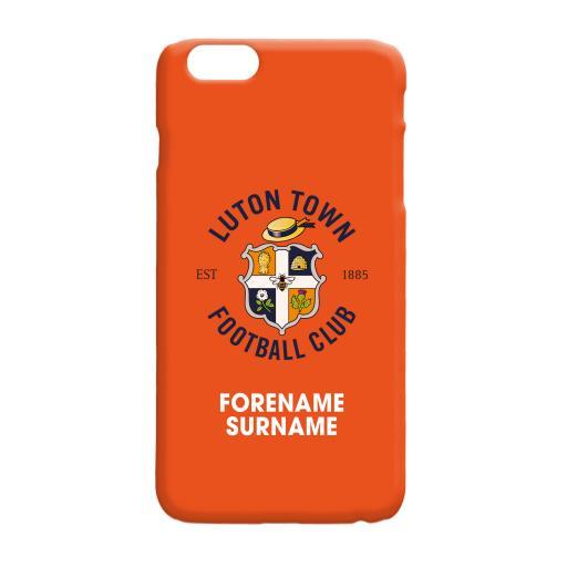 Luton Town FC Bold Crest Hard Back Phone Case