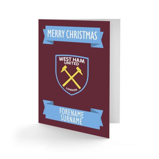West Ham United FC Crest Christmas Card