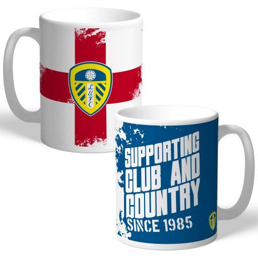 Leeds United FC Club and Country Mug