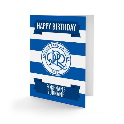 Queens Park Rangers FC Crest Birthday Card