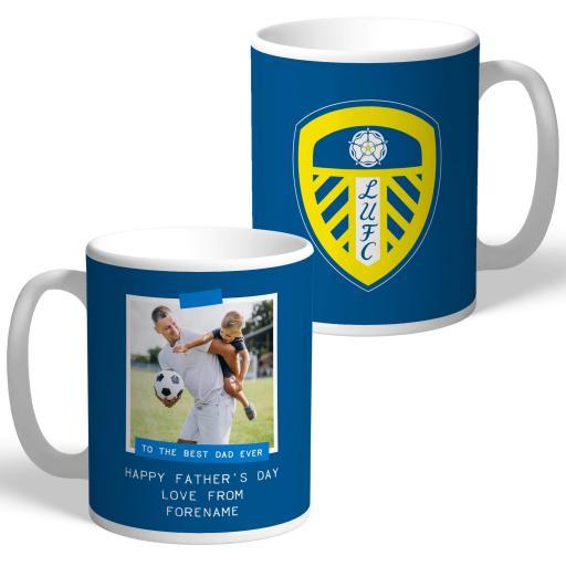 Leeds United FC Best Dad Ever Photo Upload Mug