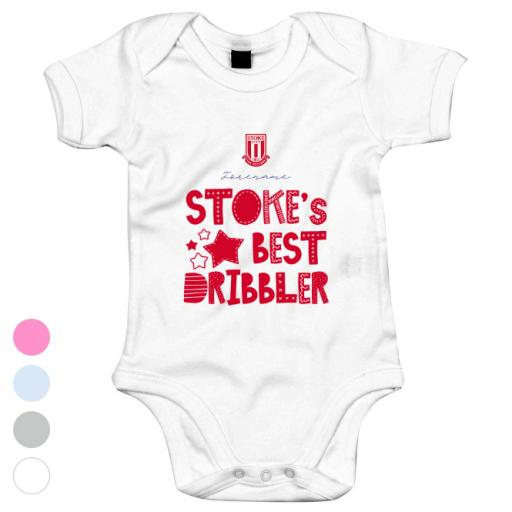 Stoke City Best Dribbler Baby Bodysuit