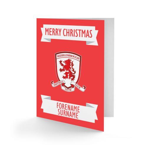 Middlesbrough FC Crest Christmas Card