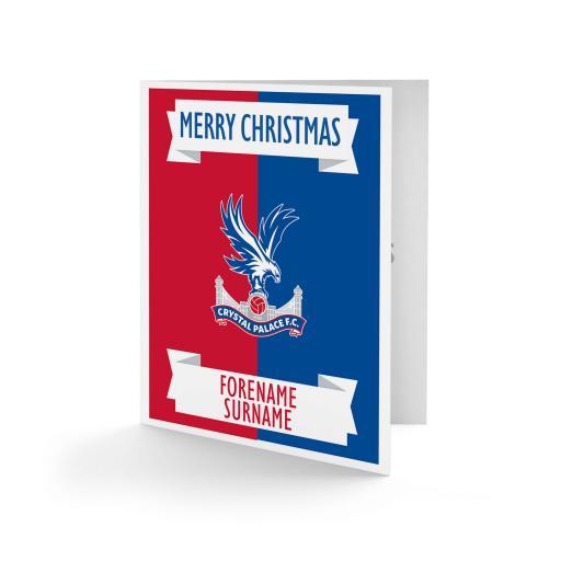 Crystal Palace FC Crest Christmas Card