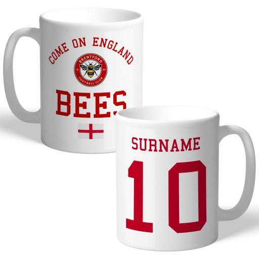 Brentford FC Come On England Mug
