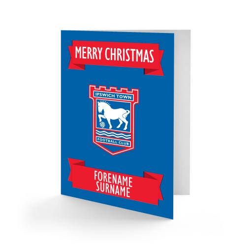 Ipswich Town FC Crest Christmas Card