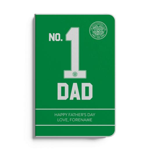 Celtic FC No.1 Dad A5 White Lined Notebook