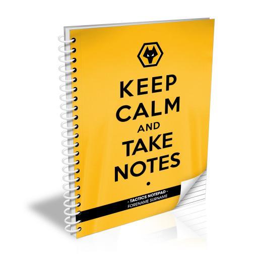 Wolves Keep Calm Notebook