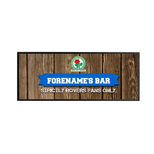 Blackburn Rovers Wood Name Regular Bar Runner
