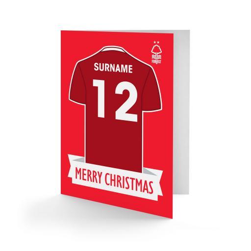 Nottingham Forest FC Shirt Christmas Card