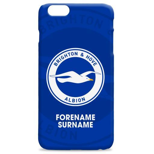 Brighton & Hove Albion FC Bold Crest Hard Back Phone Case