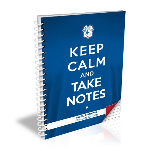 Cardiff City FC Keep Calm Notebook