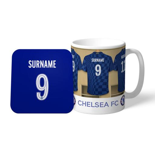 Chelsea FC Dressing Room Mug & Coaster Set