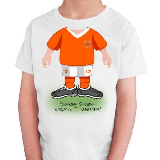 Blackpool FC Kids Use Your Head T-Shirt